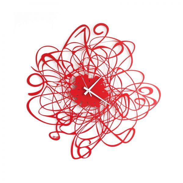 orologio da parete doodle piccolo rosso