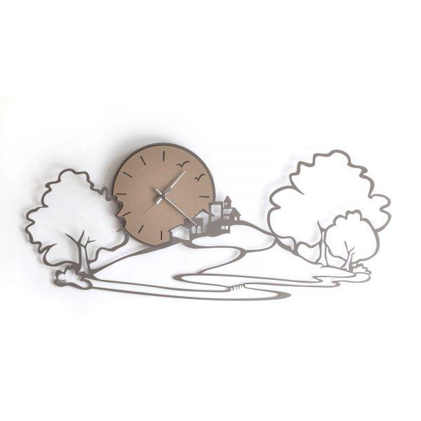 orologio da parete paesaggio fango
