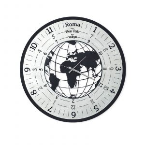 Orologio da parete mondo nero